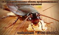СЭС г. Клин Московская область профессиональное уничтожение тараканов